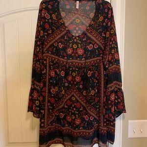 Darling vintage print babydoll dress